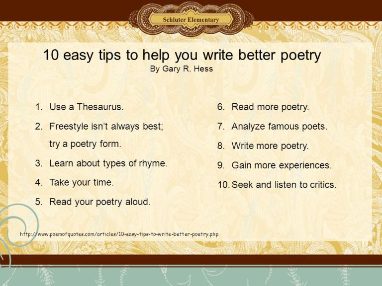 10+easy+tips+to+help+you+write+better+poetry+By+Gary+R.+Hess