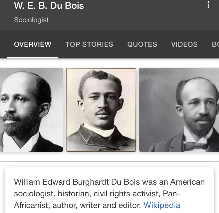 Web Dubois Quotes 1